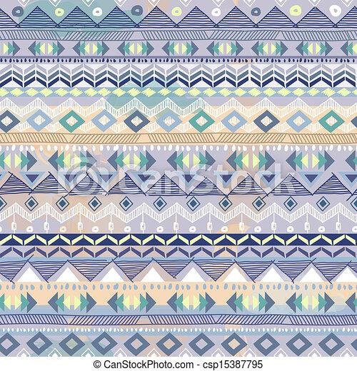 Baby Blue Tribal Print