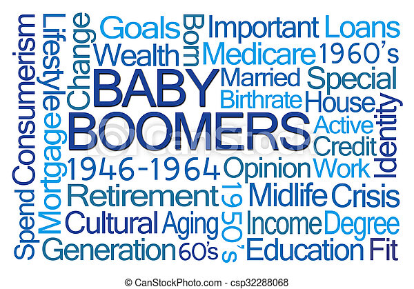 Baby Boomers Word Cloud - csp32288068