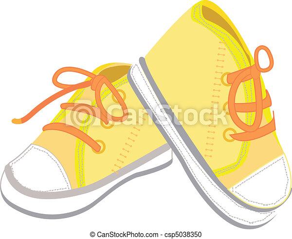 baby boots illustration - csp5038350