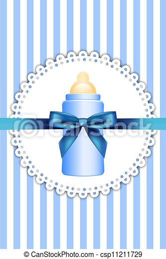 baby bottle and bow - csp11211729