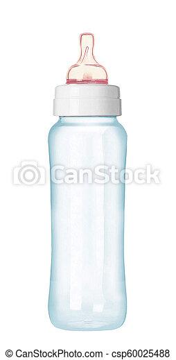 baby bottle isolated on white background - csp60025488