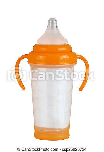 Baby bottle isolated on white - csp25026724