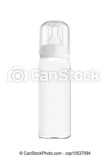 baby bottle isolated on white - csp10537094