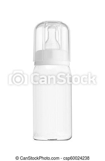 baby bottle isolated on white - csp60024238