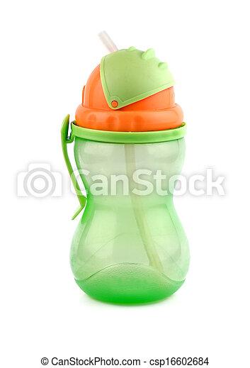 baby bottle isolated - csp16602684