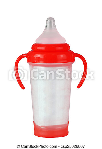 Baby bottle on a white background - csp25026867