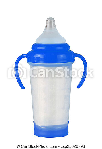 Baby bottle on a white background - csp25026796