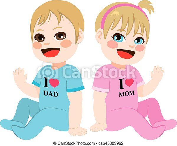 Baby Boy and Girl - csp45383962
