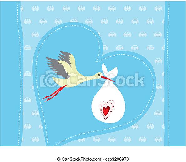 Baby boy arrival announcement card - csp3206970