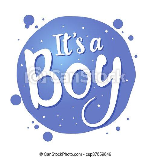 baby boy birth congratulations greeting text vector stock of