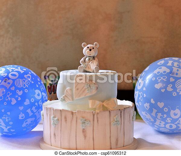 Baby Boy Birthday Cake Image Of A