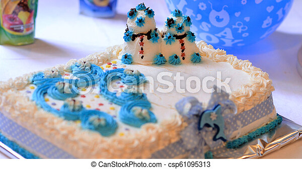Outstanding Baby Boy Birthday Cake Image Of A Baby Boy Birthday Cake On A Birthday Cards Printable Giouspongecafe Filternl