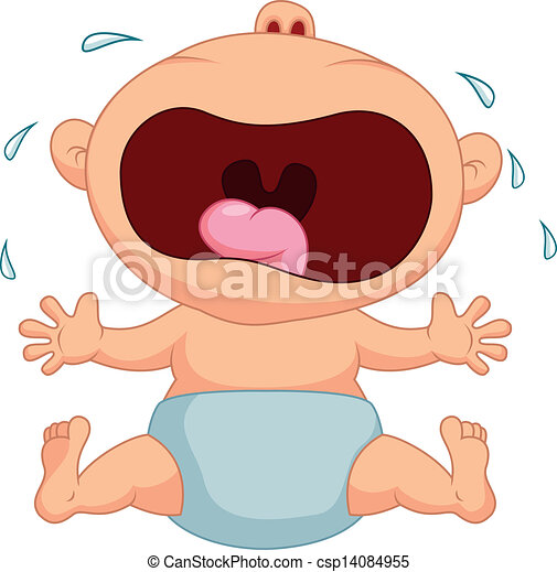Baby boy cartoon crying - csp14084955