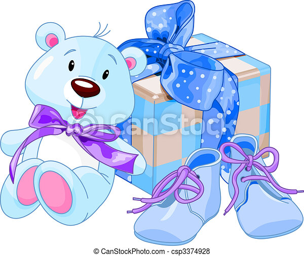 Baby boy gifts - csp3374928