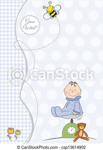 baby boy shower announcement - csp13614902