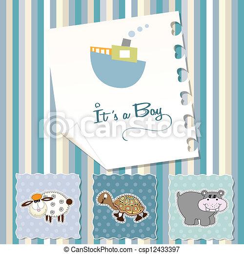 Baby boy shower invitation in vector format baby boy shower invitation csp12433397 stopboris Choice Image