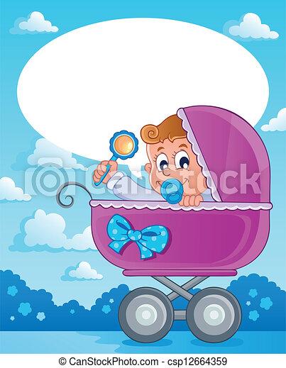 Baby boy theme image 2 - csp12664359