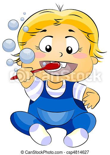 Baby Brushing Teeth - csp4814627