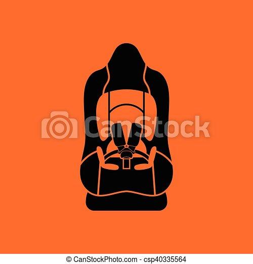Baby car seat icon - csp40335564