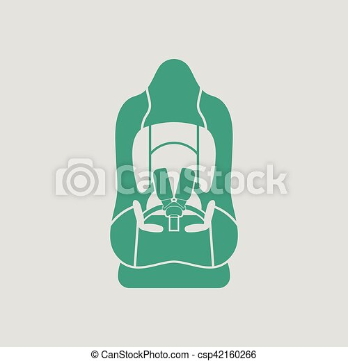 Baby car seat icon - csp42160266
