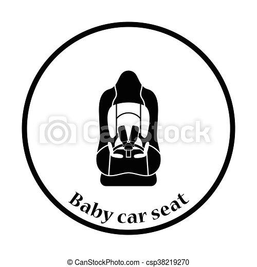 Baby car seat icon - csp38219270