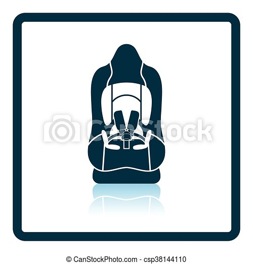 Baby car seat icon - csp38144110