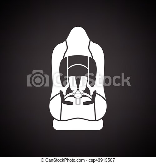 Baby car seat icon - csp43913507