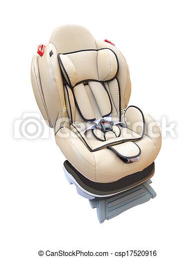 Baby car seat on white background. - csp17520916