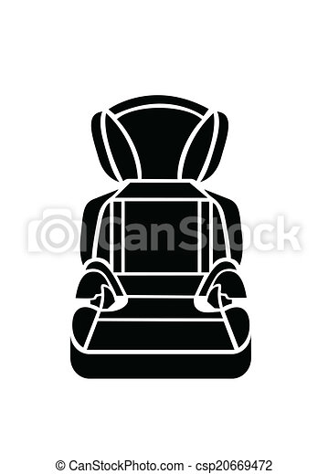Baby car seat vector illustration  - csp20669472