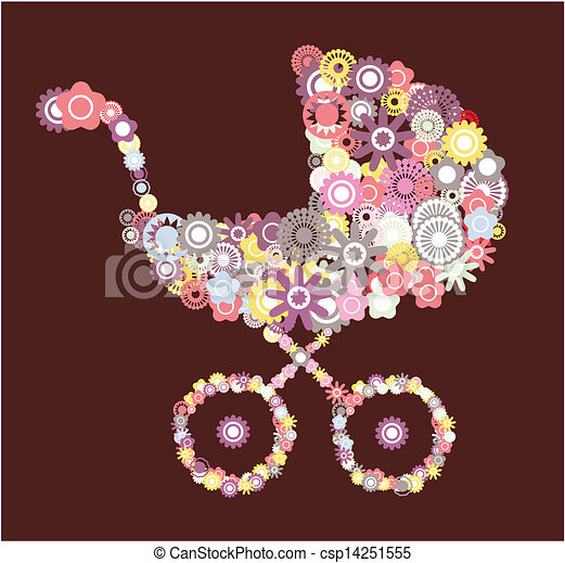 Baby carriage  - csp14251555