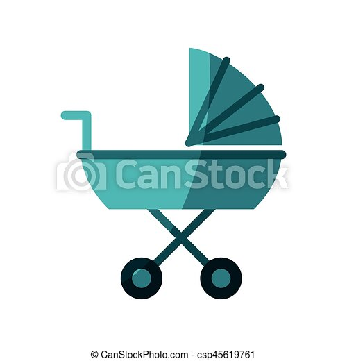 baby carriage icon - csp45619761