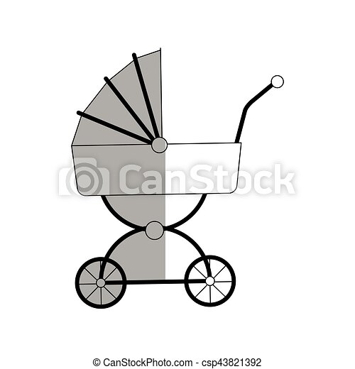 baby carriage icon - csp43821392