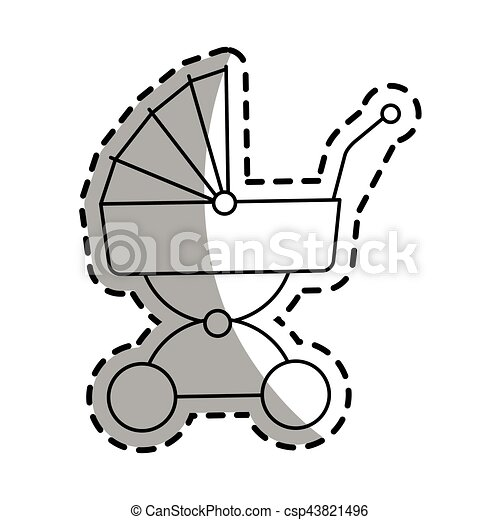 baby carriage icon - csp43821496