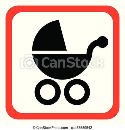 baby carriage icon - csp58589542