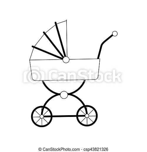baby carriage icon - csp43821326