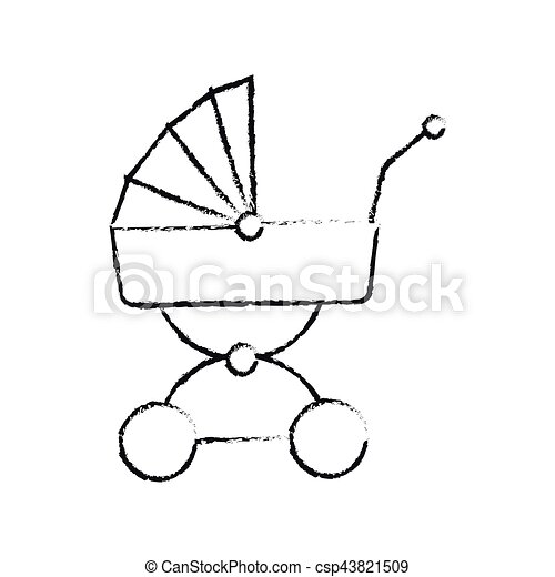 baby carriage icon - csp43821509