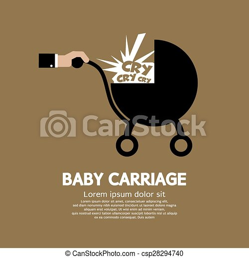 Baby Carriage In Hand. - csp28294740
