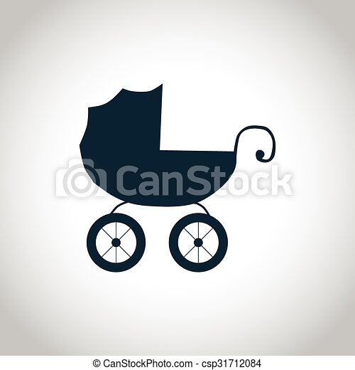 Baby carriage simple icon - csp31712084