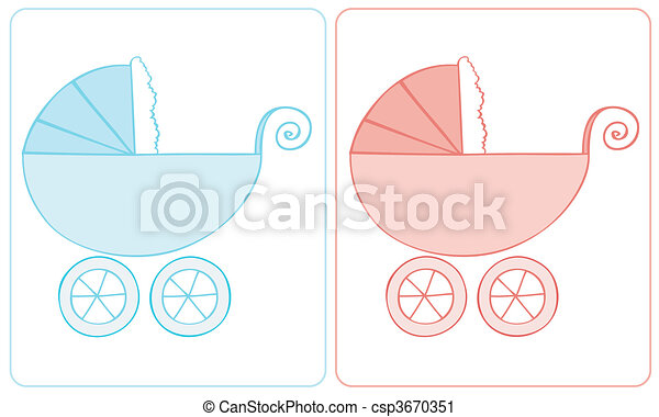 Baby carriage. - csp3670351