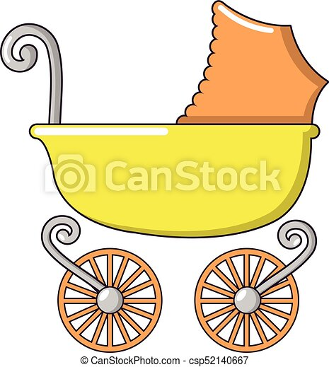 baby carriage vintage icon cartoon style baby carriage clip art rh canstockphoto com vintage baby stroller clipart vintage baby boy clipart