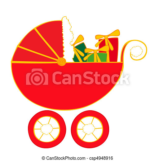 Baby carriage with christmas presents clip art vector search baby carriage with christmas presents negle Gallery