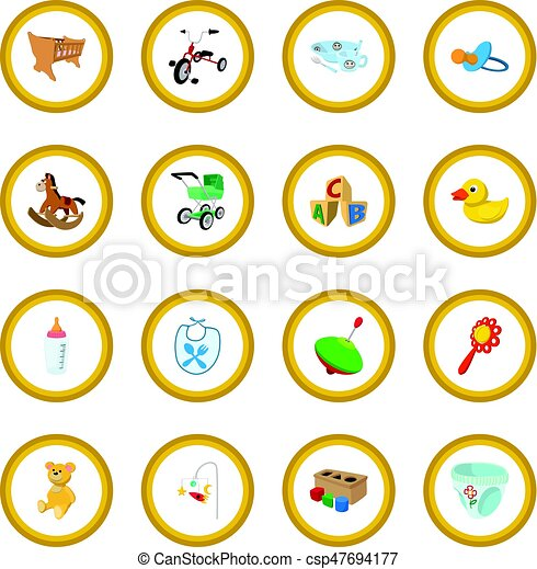 Baby cartoon icon circle - csp47694177