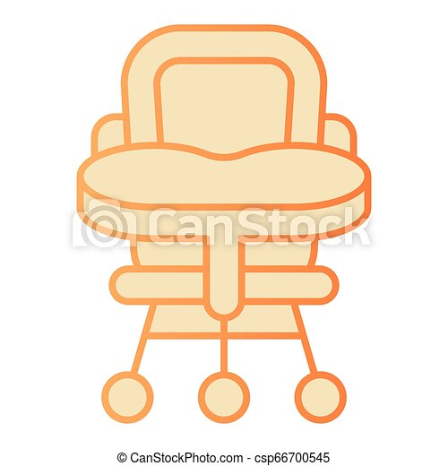 Baby Chair Flat Icon High Chair Orange Icons In Trendy Flat Style