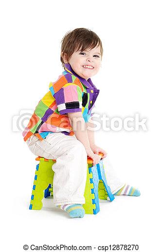 Baby child sitting - csp12878270