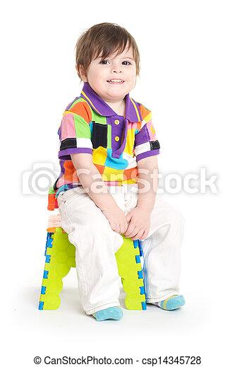 Baby child sitting - csp14345728