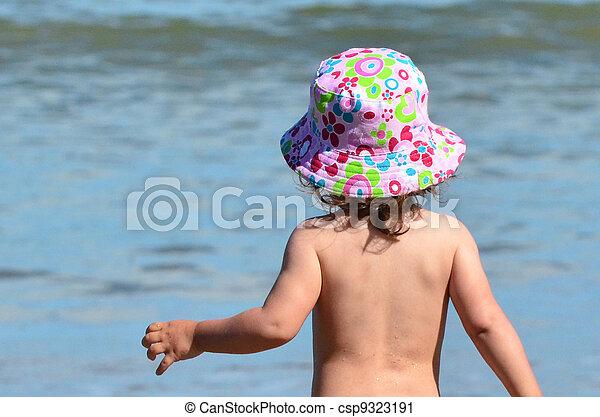 Baby Childhood - Sea - csp9323191