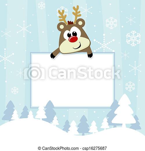 baby christmas card - csp16275687
