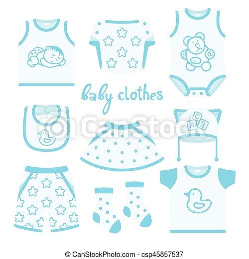 Baby clothes - csp45857537