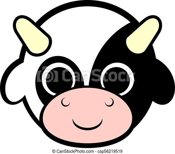 creative design of baby cow face vector clip art search rh canstockphoto com baby face clip art in color baby face clipart black and white