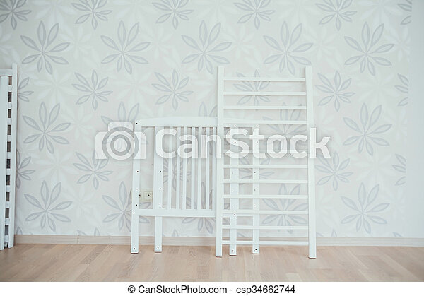 baby crib. dismantled bed - csp34662744